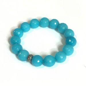 Jewelry - Handmade Aqua Stretch beaded bracelet